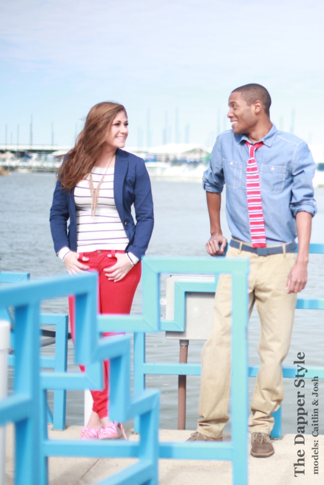 dapper red & navy