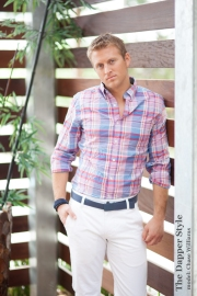 Chase Williams preppy plaid