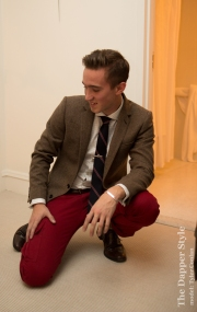 men's red pant style