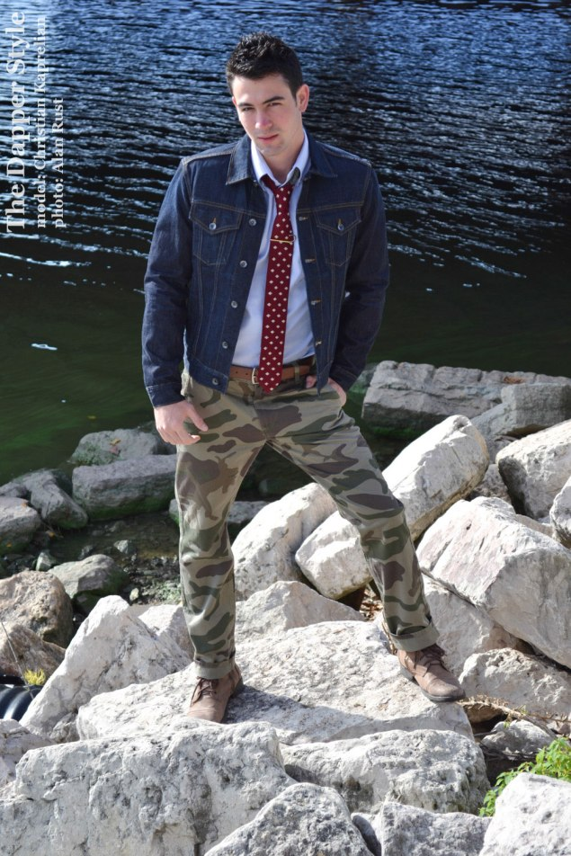 christian kaprelian in camo