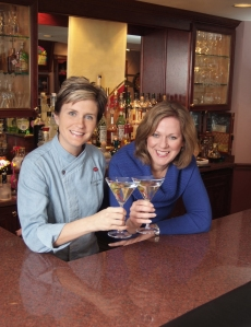 mixologist Bridget Albert with Mary Barranco