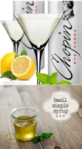 chopin lemon basil martini