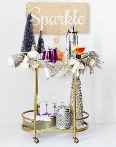 sparkle bar cart