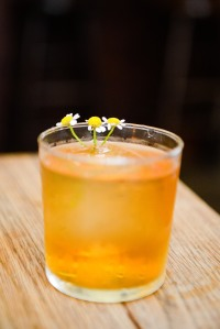 chamomile old fashioned cocktail