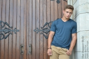 colton wergin in a bensly tee