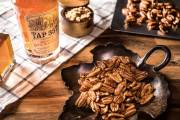 maple whiskey pecans snack