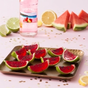 Jamaican Me Happy Watermelon Slice Jello Shooters