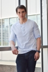 andrew prystai henley casual
