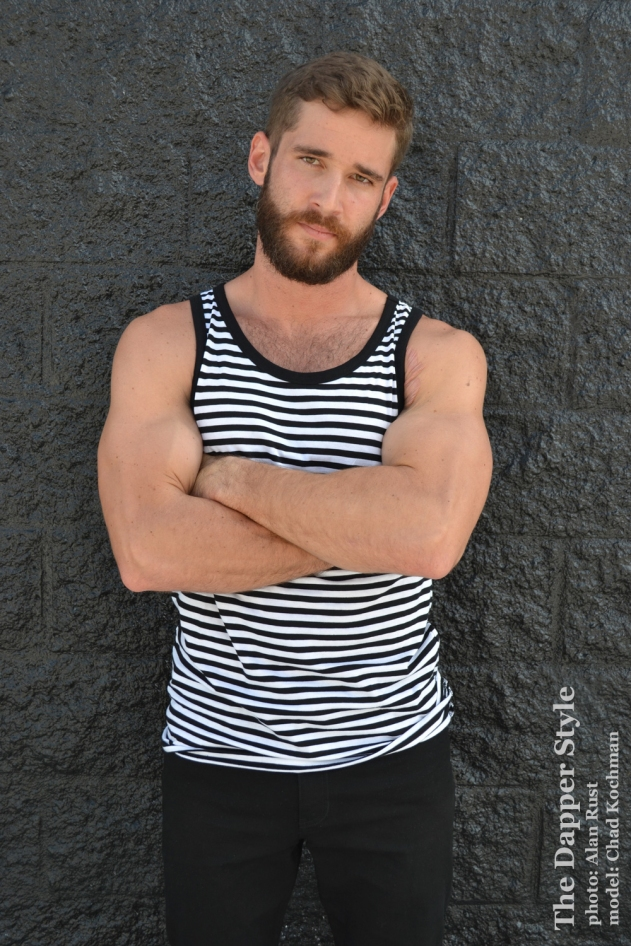 chad-black and white tank