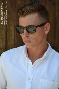 austin-james-white-oxford-shirt-and-sunglasses