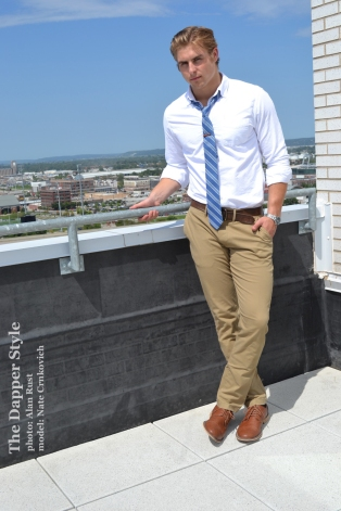 nate shirt and tie mens style