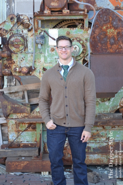jared rumsey fall sweater and tie