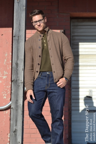 jared rumsey layered fall sweater