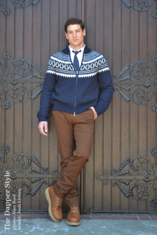 josh linton dapper winter sweater